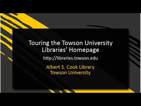 touring-the-towson-university-libraries'-website