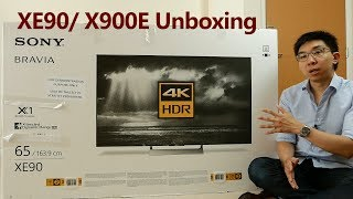 sony XE90 (X900E) 4K HDR TV Unboxing  Picture Settings