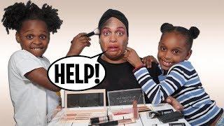 Twin Girls Try Makeup Challenge   Twin vs Twin