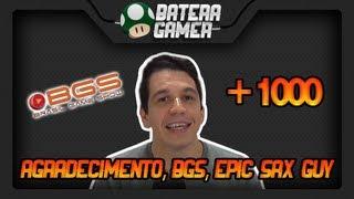 +1000 inscritos, BGS (Brasil Game Show) e Epic Sax Guy (Drum Cover)