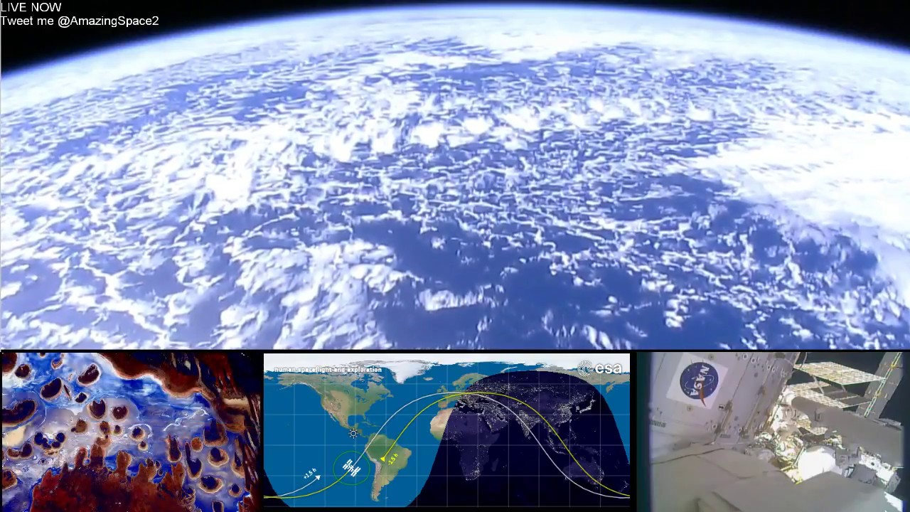 Earth From Space (HD Cams) ISS Live Stream #ISS | Live ...