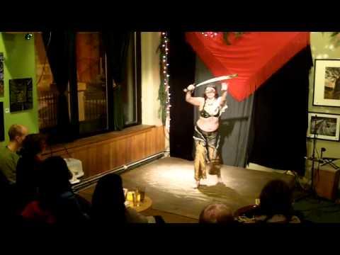 Edie Julik dancing to Sundown Silhouette