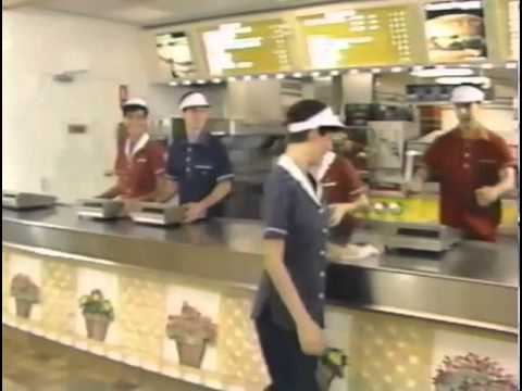 "McDonalds ""Clean it"" training video featuring a fake Michael Jackson"