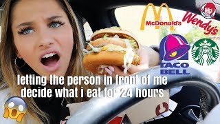 Download letting the person in front of me decide what i eat for 24 hours... Mp3 and Videos