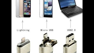 3 in 1 Flash Drive For Android/iPhone/iPad/PC
