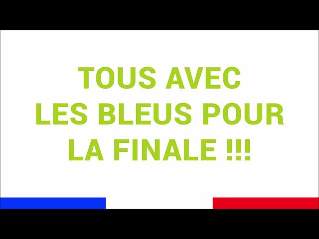 Cadiou soutient les bleus pour la finale de coupe du monde de football 2018