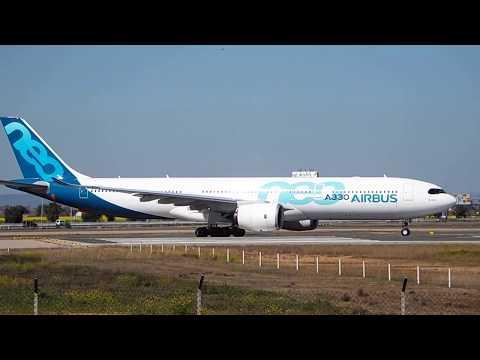 Despegue del Airbus A330neo en Sevilla