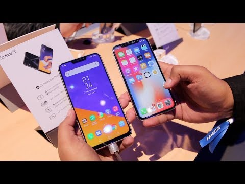 Asus Zenfone 5 & 5Z (2018) Hands on, Camera, Features, India   iPhone X at Half price? Hindi