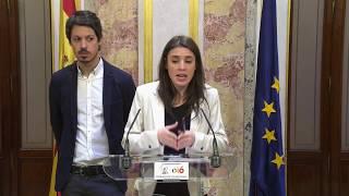 Valoración de Irene Montero y Segundo González del proyecto de PGE presentado por Montoro