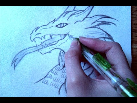 How to draw a dragon step by step for beginners!!:)