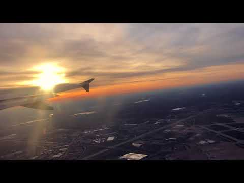 American Airlines Airbus A320-232 Beautiful Sunrise Take Off - Indianapolis International Airport