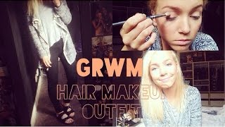 GRWM ♡ Makeup, Easy Quick Hairstyle & Outift ♡ Thumbnail