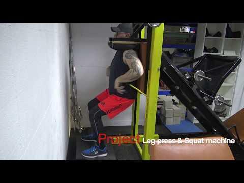DIY Leg Press & Squat Machine - Home Gym Equipment