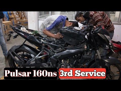 BAJAJ Pulsar 160 Ns 3rd Service || Indian Biker Boyz