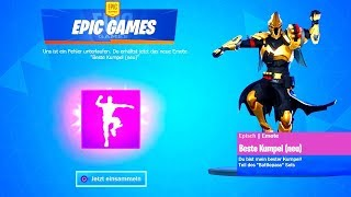 7 FREE emotes unlock! (Floss, Ponyritt, Best Buddy...) Fortnite Season 10 German