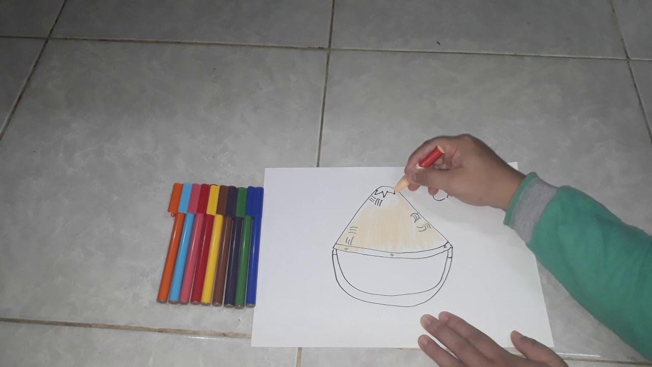Menggambar Dan Mewarnai Caping