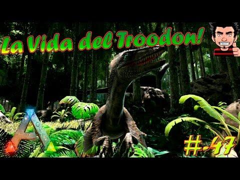 ARK Survival Evolved La vida nocturna del TROODON ! play as dino mod gameplay español