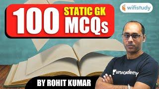 Static GK | 100 MCQs Mix Topic | Gk by Rohit Kumar
