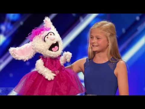 12 Year Old Darci Lynne ♡ The Singing Ventriloquist ♡ Gets Golden Buzzer ♡ America's Got Talent 2017