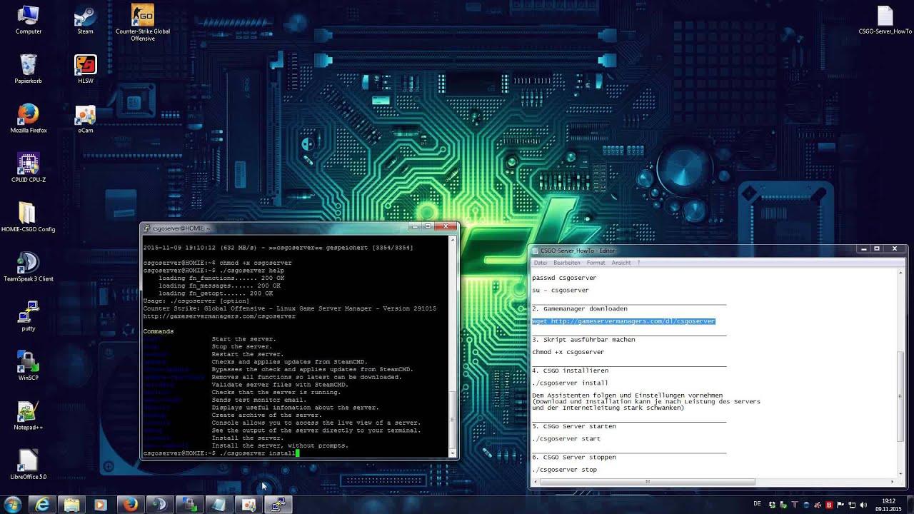 CSGO Easy Linux Server Installation Automatisch In Unter Min - Minecraft server erstellen anforderungen
