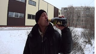На что готов мужик ради 300 руб / Бутылка шампанского + горчица