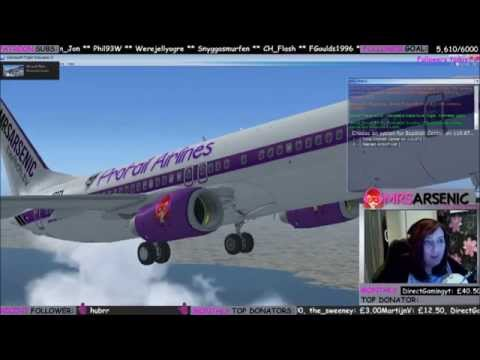 Second flight from Newcastle to New Jersey - flight simulator x