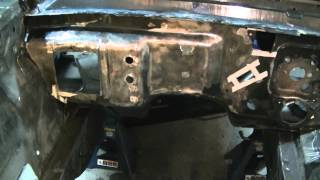 65 Mustang Restoration Part 19 Firewall heater patches and other stuff