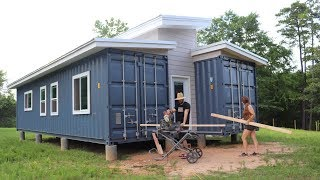 Building The Rooms In Our OFF GRID Home!