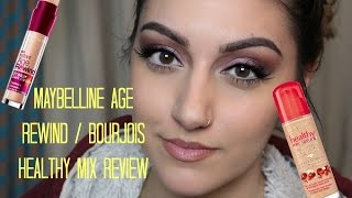 Maybelline Age Rewind/Bourjois Healthy Mix Serum Review | Makeup Tutorial Mp3