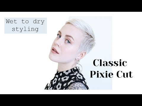 Classic Pixie Cut Hairstyle Wet To Dry Styling YouTube - Classic pixie hairstyle