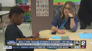Special education teacher Molly King combines academic, life lessons in her students' day