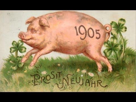 Старые праздничные немецкие открытки начала прошлого века.