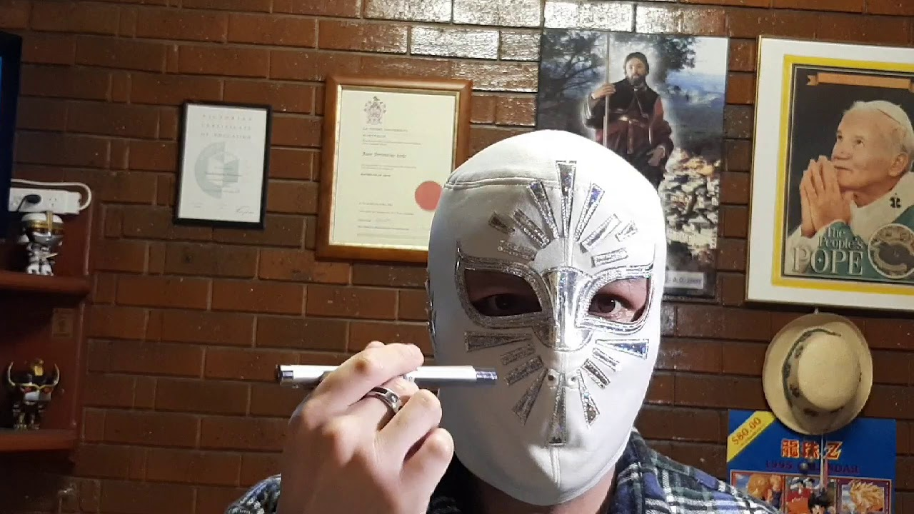 Místico mask by Mixeztaclo Jr ( white and silver)!