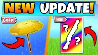 NEW Fortnite Update: GOLDEN Umbrella Revealed + New Skin Type! - 7 New Things in Battle Royale!