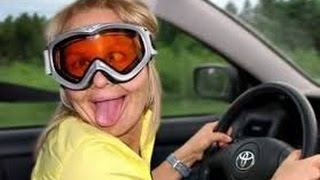 Пьяные бабы за рулем.  ДТП.