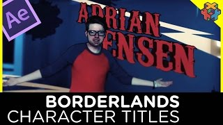 Borderlands Character Titles - After Effects Tutorial