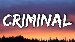 "Britney Spears - Criminal (Lyrics) ""Mama I'm in love with a CRIMINAL"""