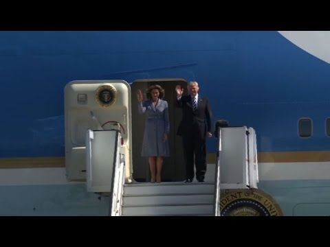 Trump arrives in Brussels for first NATO, EU talks