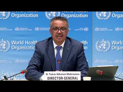 LIVE: WHO holds briefing on coronavirus outbreak as cases soar past 18 million