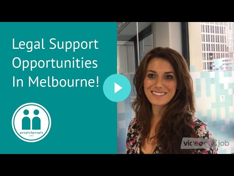 Legal Support Opportunities In Melbourne!
