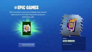 Fortnite Gifted Us FREE Rewards for NEW Middle Eastern Servers!