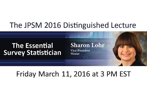 The Joint Program in Survey Methodology - 2016 Distinguished Lecture