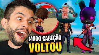FALEI TUDO... PASSEI MUITA RAIVA NO MODO CABEÇÃO DO FREE FIRE!!!