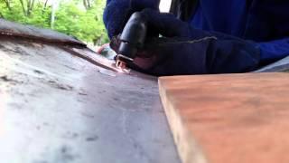Hobart 12ci cutting metal