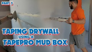 Fast Drywall Taping Using the Tapepro Mud Box