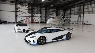 The Fastest Hypercars Meet The Fastest Private Jets