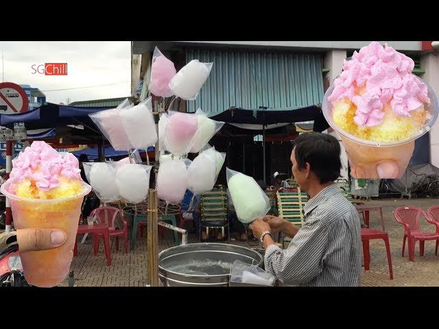 Kẹo bông gòn, đá bào kem sữa của hai ông chú dễ thương ở Miền Tây