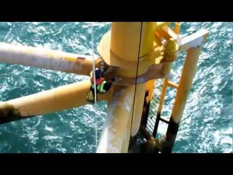 1717 sca rope access offshore windfarm paint inspection.MOV