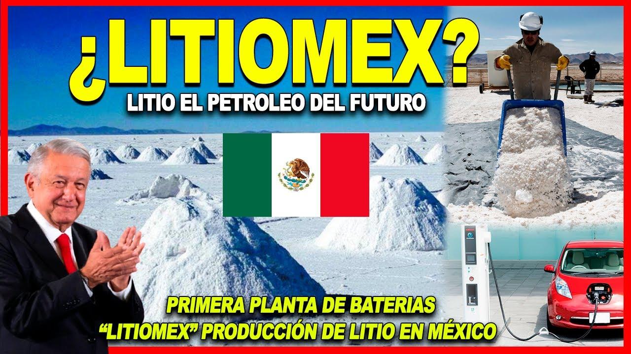 Mira esto! México alista plan para desarrollar el mercado de LITIO y crear  una planta de baterías - YouTube