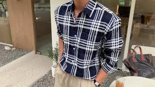 써머스 체크 셔츠